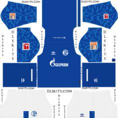 Schalke 04 Home Kit Dream League Soccer Kits German Football Clubs, Real Madrid Kit, Famous Sports, Soccer Logo, Fc Bayern Munich, Soccer Kits, Sports Brands, Goalkeeper, Logos