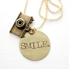 GroopDealz | Hand Stamped Smile Necklace #groopdealz