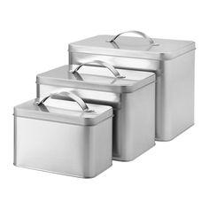 IKEA - HEMSMAK, 缶 ふた付き 3個セット