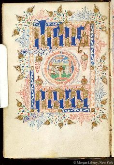 Book of Hours, MS S.3 fol. 13v - Images from Medieval and Renaissance Manuscripts - The Morgan Library & Museum