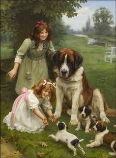 """A Proud Mother"" -- by Arthur John Elsley (1860-1952, English)"
