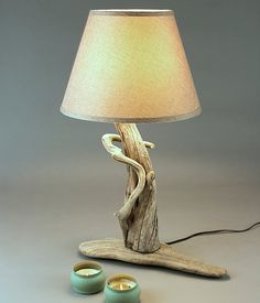 Natural Driftwood Lamp by RawEarthLLC on Etsy, $325.00