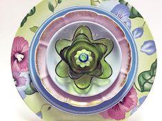 Yard Decoration Flower Glass Garden Flower Garden Art
