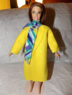 Long Fleece coat in bright yellow with by KelleysKreationsLV