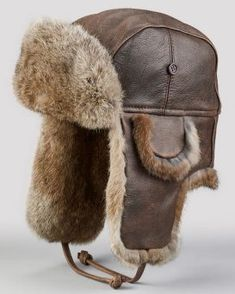 GENUINE BEAVER Fur /& REAL LEATHER Unisex Trapper Ushanka Bomber Winter Hat M-2XL
