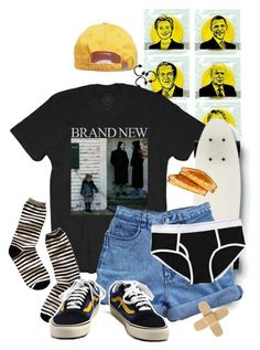 """""""something brand new"""" by freezeyourbrains ❤ liked on Polyvore featuring Quiksilver, Bill Blass, Madewell and Vans #skateboardingoutfits"""