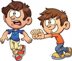 Kid Shoving Another Kid by memoangeles | GraphicRiver