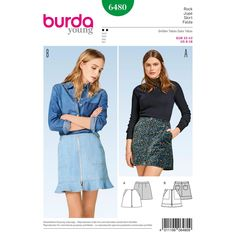 Purchase Burda Burda Style Pattern B6480 Misses' Mini Skirts and read its pattern reviews. Find other Skirts, sewing patterns...