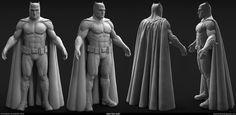 Batman V Superman - Batman Sculpt , Ferdinand Reginensi Batman V Superman Movie, Batman Art, Batgirl, Supergirl, Marvel Fight, Game Character Design, Ferdinand, Sculpting, Poses