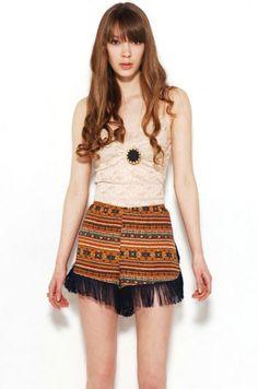 Tribal print shorts