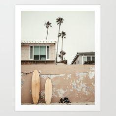 San Diego Surfing Mini Art Print by scissorhaus San Diego Surfing, Cosmos Flowers, Scandi Home, Beach Wall Art, Surf Art, Wall Art Pictures, Decoration, Framed Art Prints, Decor Styles