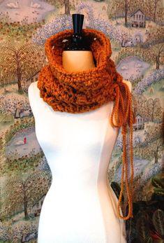 Chunky Cowl Crochet Pattern The Butterscotch Cowl by Stolenhook