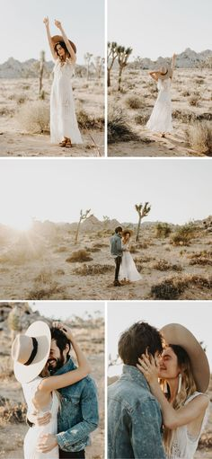 Joshua Tree Engagement Wedding