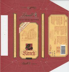 Kirsch  Milchchokolade mit flüssiger Kirsch-Füllung 1996 Lindt, Cover, Books, Alcohol, Cherries, Libros, Book, Book Illustrations, Libri