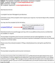 Fake ACCC 'Complaint' Emails Point To Ransomware