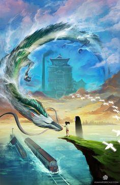 (1) Twitter Studio Ghibli Movies, Studio Ghibli Art, Spirited Away Haku, Hayao Miyazaki, Anime Art Girl, Naruto, Kohaku, Animation, Howls Moving Castle