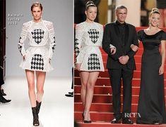 Adele Exarchopoulos In Balmain & Lea Seydoux In Armani - La Vie DAdele Cannes Film Festival Premiere - Red Carpet Fashion Awards