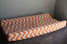 Deluxe Orange Chevron and Minky Contour by DesignsbyChristyS, $30.00