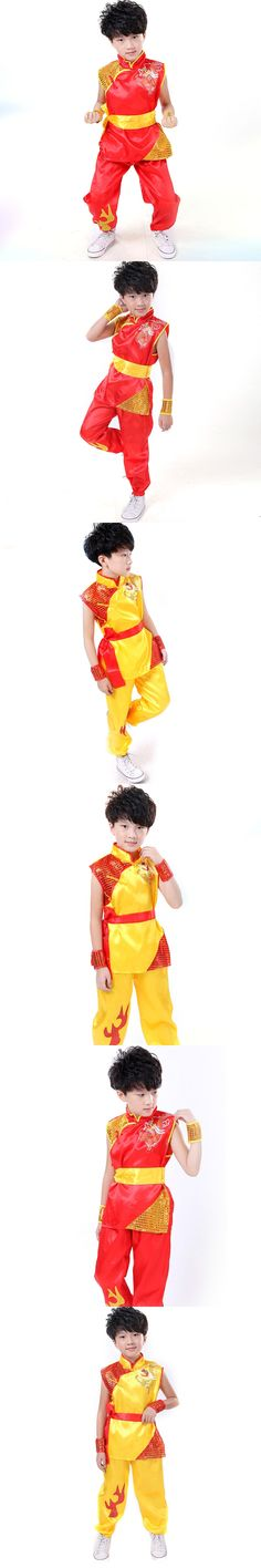 Embroidery Dragon Children Performance Clothing Boys Chinese Costume Kung Fu Clothing Dragon Suit Martial Arts Costume for Kids