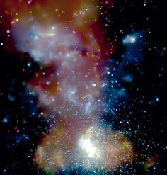 Galactic Center Star Clusters  Credit: D. Wang (UMass) et al., CXC, NASA