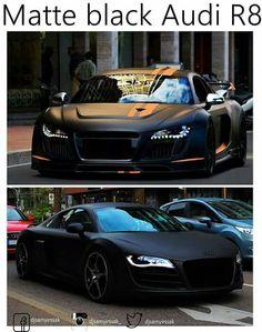 ideas for beautiful cars audi matte black Carros Audi, Carros Lamborghini, Lamborghini Veneno, Fancy Cars, Cute Cars, Maserati, Moto Design, Porsche 918 Spyder, Sports