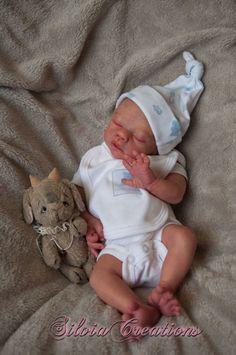 Reborn Prototype Babsi By Silvia Creations Reborn Babypuppen, Reborn Dolls, Reborn Babies, Newborn Baby Dolls, Cute Baby Dolls, Cute Babies, Bebe Born, Bebe Real, Wiedergeborene Babys