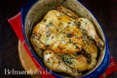 Herb Roasted chicken, using my favorite herbs; rosemary and sage. Roast Chicken Seasoning, Chicken Skin, Herb Roasted Chicken, Feeding A Crowd, Fast Recipes, Roasting Pan, Fresh Herbs, Sage, Dishes