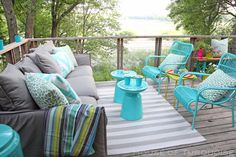Summers go by so quickly here in Minnesota, it's really a shame to have such a great outdoor area and not put it to good use! After we had a new sliding door installed this spring (one that a…