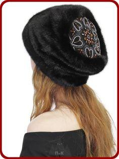 Шапка Калейдоскоп - Женские шапки - Из меха норки