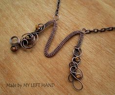 Wire Wrapped Copper Wire Letter M Initial by MadeByMyLeftHand