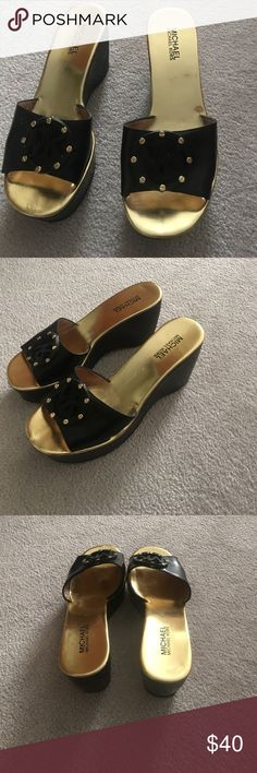 Michael Kors black wedges Michael Kors black wedges. Good condition Michael Kors Shoes Wedges