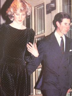 February 8, 1984: Prince Charles and Princess Diana attend the unveiling of a Michael Noakes portrait of Prince Charles at the Ritz Hotel in London.