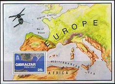 Gibraltar 1978 Gibraltar from Space Miniature Sheet Fine Mint SG 399 Scott 364 Other European and British Commonwealth Stamps HERE! Rock Of Gibraltar, Bay Of Biscay, British Overseas Territories, Commonwealth, Postage Stamps, Miniatures, Mint, Space, Stamp Dealers