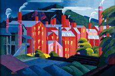 Jersey Silkmills (Paterson), 1911 // Oscar Bluemner