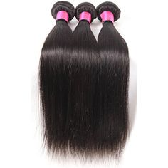 DFX Hair (TM) 8~30 inches Brazilian Virgin Human Hair Extension Silky Straight, Pack of Three, 100g/Bundle, 6A Natural Color Weft (10 12 14) *** Find out more about the great product at the image link. (This is an affiliate link and I receive a commission for the sales)