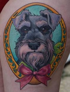 Image result for schnauzer tattoo