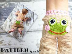 New CROCHET PATTERN, Silly Creatures Pants, 3 Designs in 1 Pattern,  Frog, Lion and Alien,  Crochet PDF Pattern via Etsy