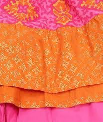 Pink & orange ruffles