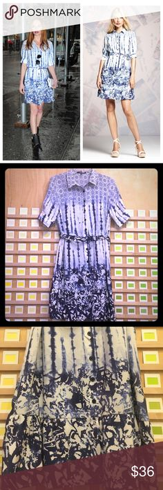 🎉SALE🎉Peter Som Blue Tie-Dye Dress Got some summer time sadness? If ya can't beat 'em... join 'em;) shake of those blues in this rad tie-dye print! Stunning patterns and colors will shake up the summer and make you the talk of the town. Excellent condition! Peter Som Dresses Midi
