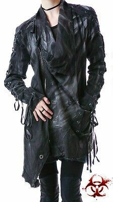 Post apocalyptic Dieselpunk Cyberpunk long jacket trench distressed style