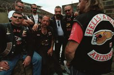 Sonny Barger, patriarch of the Hell's Angels, with some of his biker buddies. Barger has just released his memoirs, Hell's Angel, which can be ordered from his web site along with other merchandise. Sonny Barger, Biker Clubs, Motorcycle Clubs, Angels Logo, Hells Angels, Living Legends, Memoirs, Bad Boys, Harley Davidson