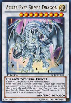 Yu-Gi-Oh! TCG - Azure-Eyes Silver Dragon (SDBE-EN040) - Structure Deck: Saga of Blue-Eyes White Dragon - 1st Edition - Ultra Rare Card