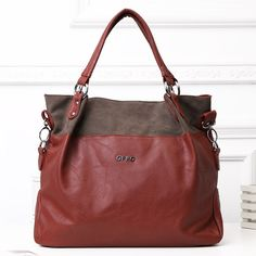 Original OPPO women casual medium PU leather handbags soft party totes bag $65.79