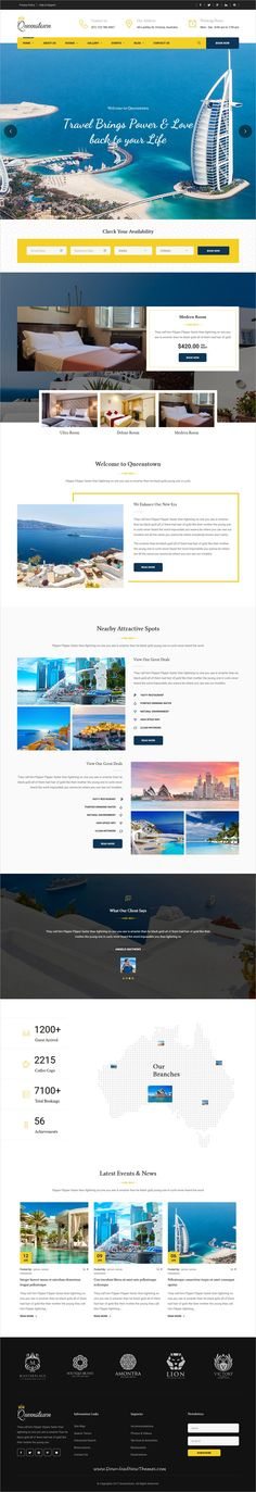 QueensTown is clean and modern design 3in1 responsive #WordPress theme for #resort and #hotels website download now..
