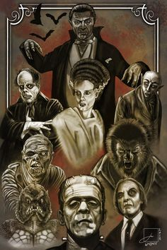 Monster Horror Movies, Classic Monster Movies, Horror Monsters, Classic Horror Movies, Classic Monsters, Terror Movies, Scary Movies, Horror Icons, Horror Art