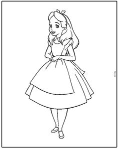 Alice+In+Wonderland+Characters+Coloring+Pages | Alice Wonderland Coloring Pages