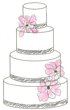 We will give you various cake design ideas for your reference Cool Wedding Cakes, Wedding Cake Designs, Wedding Cake Illustrations, Wedding Cake Drawings, Cake Chart, Design Your Own Cake, Cake Sketch, Watercolor Wedding Cake, Dessert Illustration