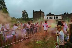 Colour run, happens in July at Muncaster Castle, Cumbria. (Plenty of parking but get there early) x