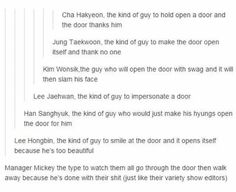 VIXX and doors >w< (Ken's and Hongbin's are so accurate tho)