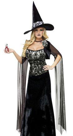 Sexy Womens Gothic Witch Victorian Halloween Costume   eBay